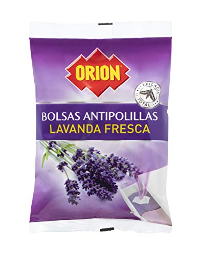 Orion - Bolsas Antipolillas Sin Naftalina con Aroma a Lavanda Fresca - Pack 2 x 20 Unidades