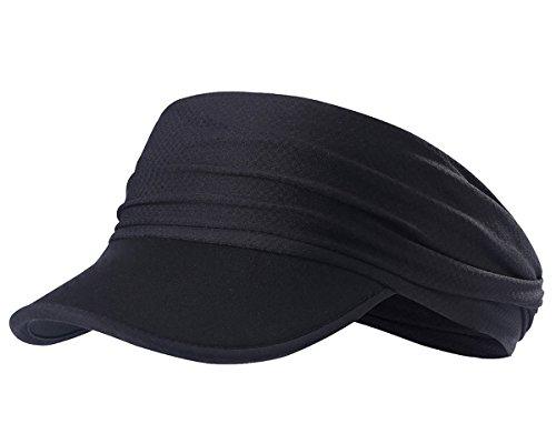 Casquette de Sport Chapeau de Soleil Pliable Haut Vide Visière Longue Bandeau Multifonctions Masque Elasthanne Plage Loisir Ski Running Contre Soleil Anti-UV Respirable Cadeau Motifs Cool