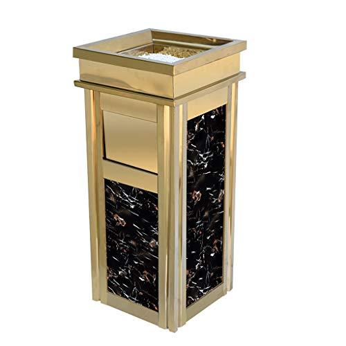 Cubo de Basura para Exterior Compartimiento de basura, la basura al aire libre Bin bote de basura de la basura del hotel Coin rack Cenicero Copa del Ministerio del Interior de la cocina comedor y bar