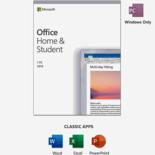 Office 2019 Home and Student | Lifetime License | KeyCard | PC ONLY | BOX |...