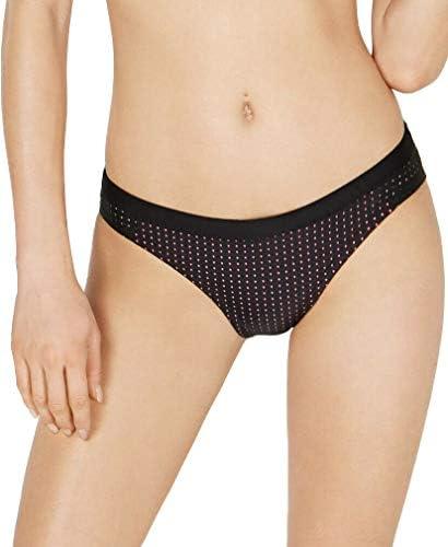 Nike Women s Sport Mesh Hipster Bikini Bottoms X Small Black Hyper Pink product image