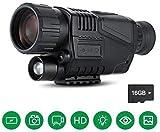 Monocular infrarrojo de visión nocturna camara termica en HD de con cámara digital; reproducción de video; para caza y vida silvestre. Distancia de visión de 200 m en la oscuridad; tarjeta TF de