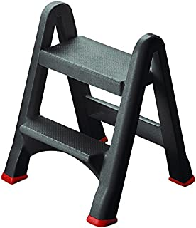 CURVER | Marchepied pliable 2 marches, Anthracite, Step Stools, 49,5×17,2×64 cm