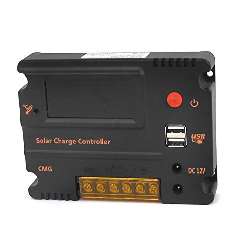 DealMux CMG-2420 Switch 20A 12V 24V PWM LCD Solar Charge Controller Control