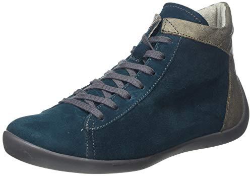 Softinos Damen NEYA556SOF Hohe Sneaker, Grün (Dk. Petrol/Grey 004), 38 EU