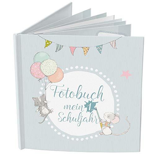 Fotobuch zur Einschulung mit Fotoaufgaben   Tagebuch für Mädchen & Jungen zum Schulanfang   Mein erstes Schuljahr Buch   Geschenk-Idee, Foto-Album, Schultüte