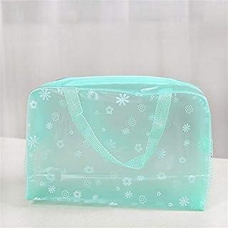 Cosmetic Bag New Women Cosmetic Bags Transparent Plastic Organizer bags Makeup (Color : Ivory)