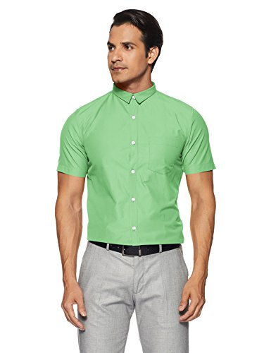 Excalibur Men's Formal Shirt (8907242477176_265207971_39_Green)