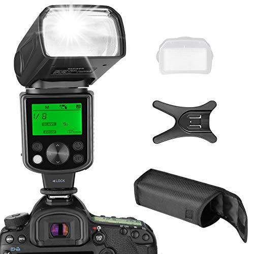 Neewer NW 625 GN54 Speedlite Blitz für Canon Nikon Panasonic Olympus Pentax Fujifilm DSLR Mirrorless Kameras und Sony mit Mi-Blitzschuh wie a9 a7 a7RII a7SII a6000 a6300 a6500