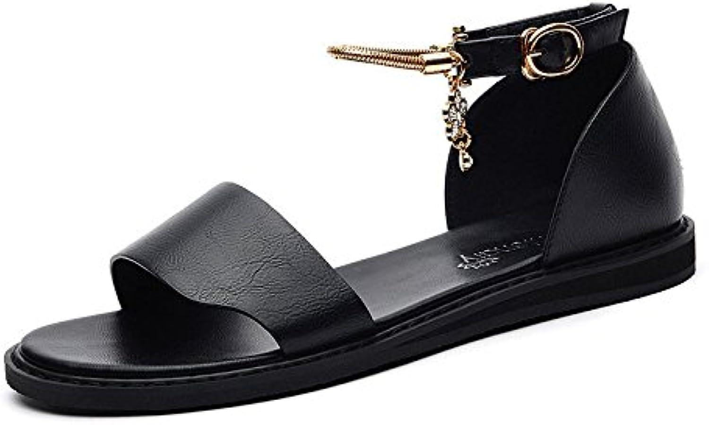 RUGAI-UE Sommer Sandalen für Mädchen mit flachem Boden Sandalen B07D68MVQ8  Klassischer Stil
