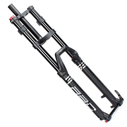TYXTYX Horquilla de Aire para Bicicleta MTB DH 27.5 29 Pulgadas, Doble Hombro, Eje de 15x100 mm, Freno de Disco, Horquilla de suspensión Delantera Cuesta Abajo (Color: 27 Pulgadas)
