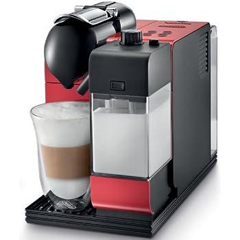 Nespresso Lattissima Plus Original Espresso Machine with Milk Frother by De'Longhi, Red