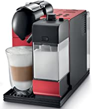 Nespresso Lattissima Plus Original Espresso Machine with Milk Frother by De'Longhi, Red