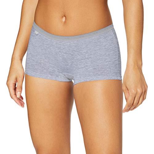 Sloggi Damen Panties Basic + Short, Mehrfarbig (Grey Combination M013), 38