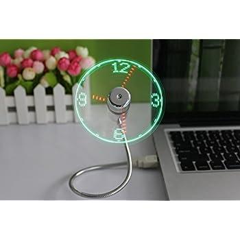 JIAMA Ventilateur D'horloge LED USB Alimenté par USB