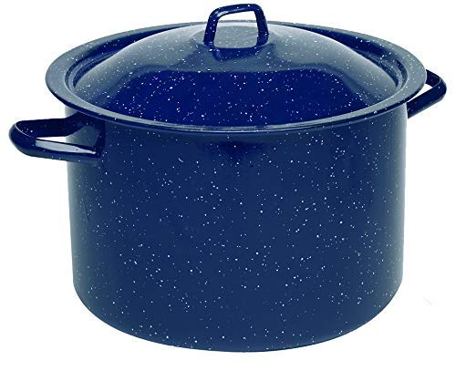 6-Quart Speckled Enamel Stock Pot with Lid