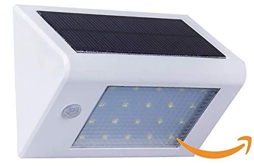 Aplique Exterior Solar LED con Detector de Movimiento y Sensor Crepuscular, Modelo Quito, Potencia 4 W, Luz Natural, Ideal para Terrazas y Jardines, Color Blanco