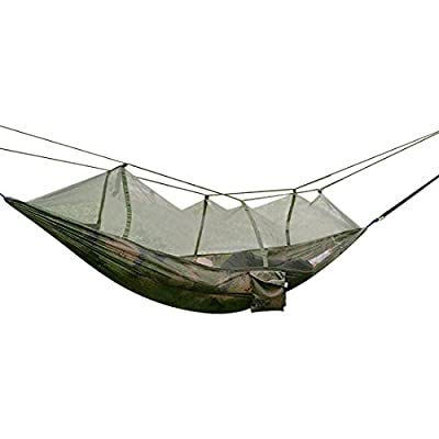 Camping Hammock, Topist Mosquito Net Hammock Bed Widened Parachute Fabric Double Hammock, Ultralight & Quality Comfort for Camping, Hiking, Travel, Outdoors and Backpacking