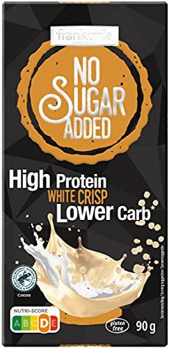 frankonia CHOCOLAT NO SUGAR ADDED High Protein Lower Carb White Crisp, 90 g