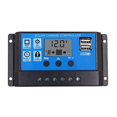 ZHCJH 10A/20A/30A Car Solar Charge Controller PWM Controller LCD Dual USB 5V Output Solar Panel PV Regulator