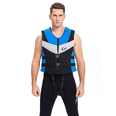 ZIYE Adult Children Life Jackets for Swimming, Drifting,Surfing Life Vest Kayak Ski Buoyancy Fishing Boat Watersports Classic Series Vest Oversized