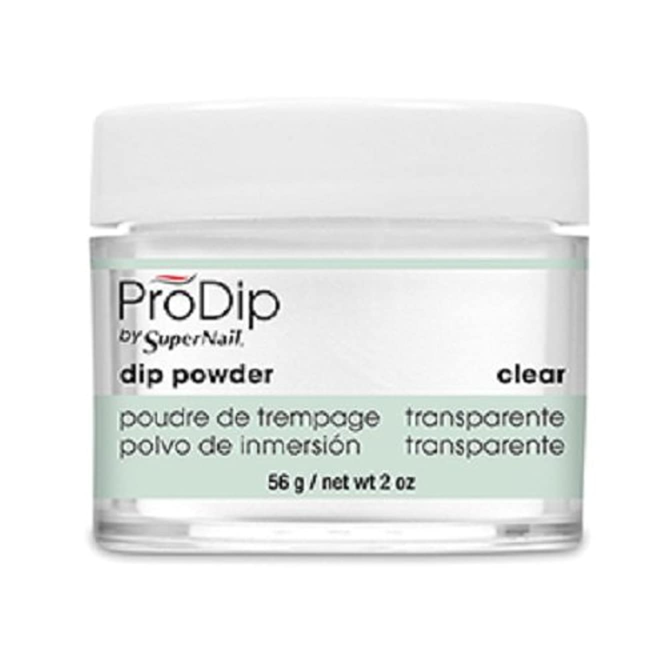 Supernail Prodip French Acrylic Dip Powder Clear, 2 Ounce