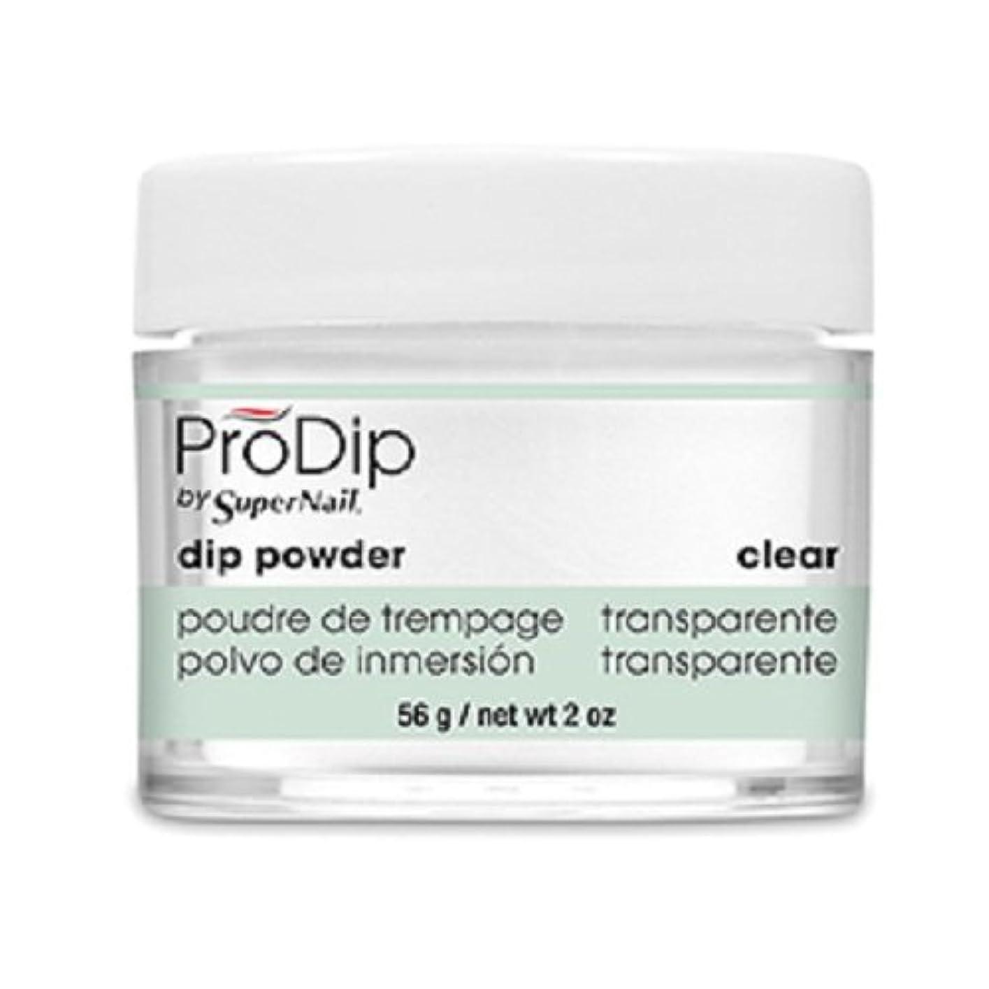 累計アッティカス減衰SuperNail - ProDip - Dip Powder - Clear - 56 g/2 oz