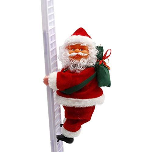 Christmas Props Santa Claus Escalada Escalada Modelado Escalada Eléctrica (Blanco)