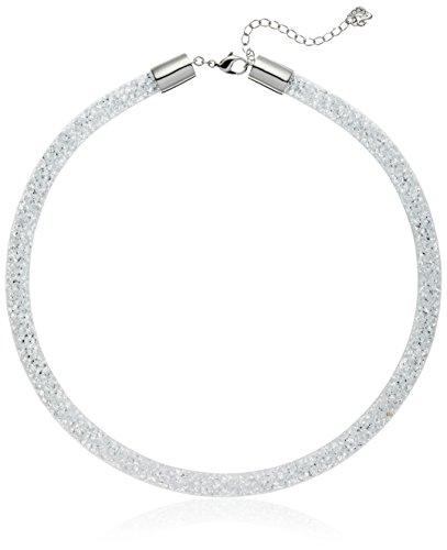 Swarovski Damen-Fischgrätkette Stardust rhodiniert Glas weiß - 5119069