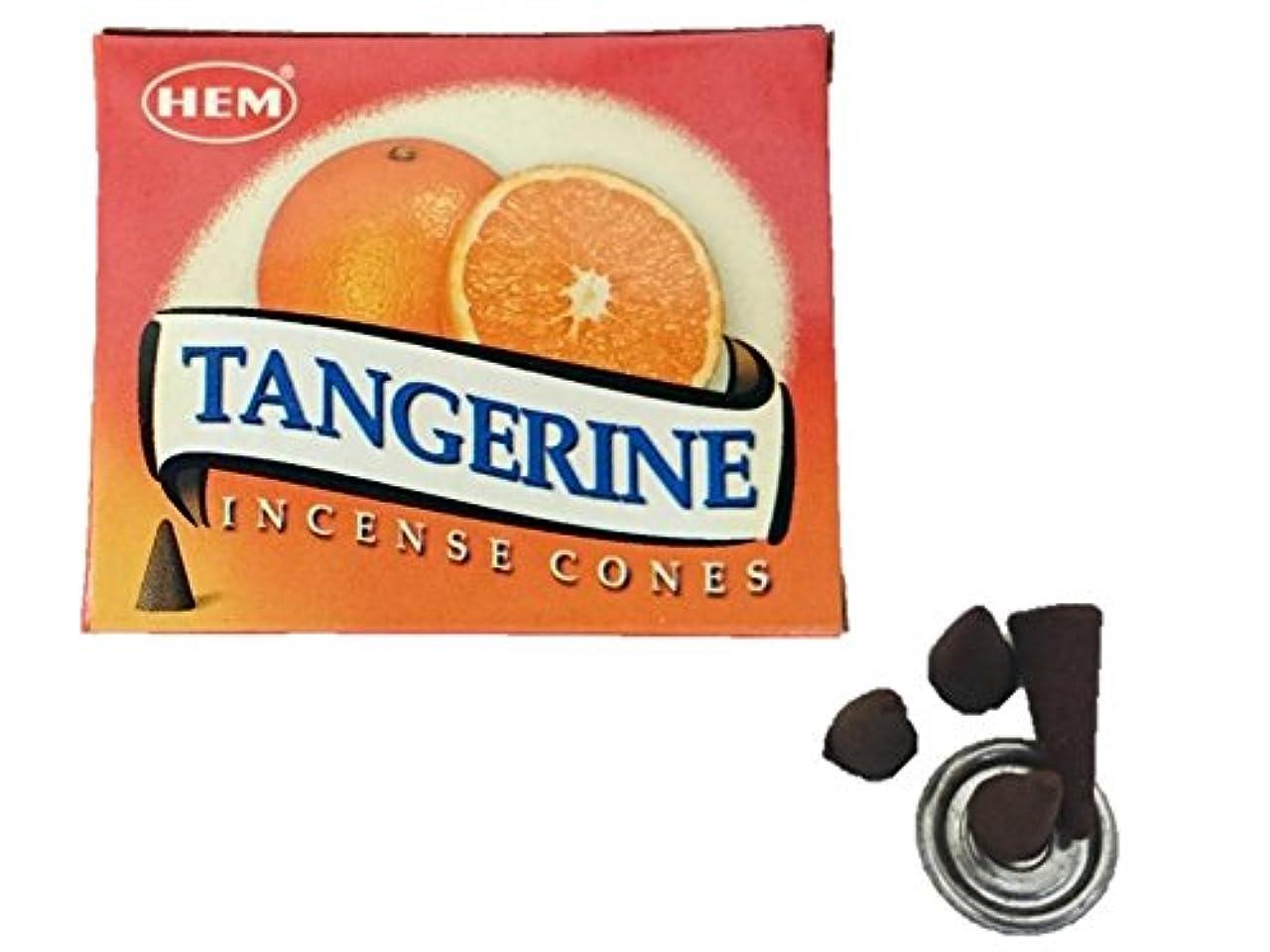ベアリングサークル切手スリットHEM(ヘム)お香 タンジェリン(オレンジ) コーン 1箱