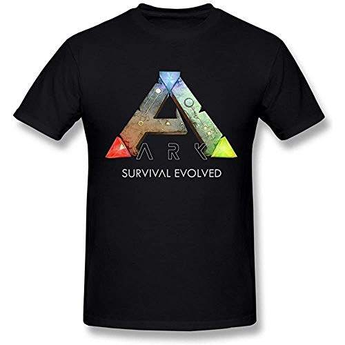 Men's Ark Survival Evolved Game Logo Poster Black T Shirt XXXX-L