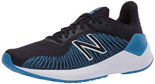 New Balance Men's Ventr V1 Running Shoe, Black/Vision Blue, 7.5 XW US