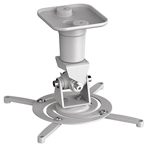 conecto® Universal Projektor/Beamer Halterung Deckenhalterung (neigbar, schwenkbar, Kabelmanagement) weiß