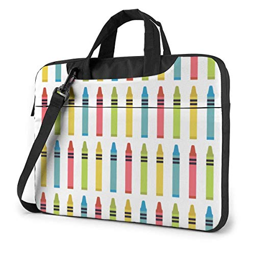 Colorful Pens Laptop Sleeve Case 14 Inch Computer Tote Bag Shoulder Messenger Briefcase for Business Travel