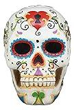 Gifts & Decor Ebros White Floral Sunny Day of The Dead Sugar Skull Statue Colorful Pastel Resin Figurine Skeleton Cranium Dia De Muertos Calacas As Gothic Display Model Sculpture