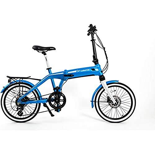 Aurotek Sintra Bicicleta Eléctrica Plegable de 20, Adultos Unisex, Ocean Blue, Mediano