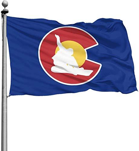 YUYUTE Party/Garten/Park/Themen flaggen Colorado Snowboard Garden Flags Home House Flag Outdoor Activities Flag Party Flag