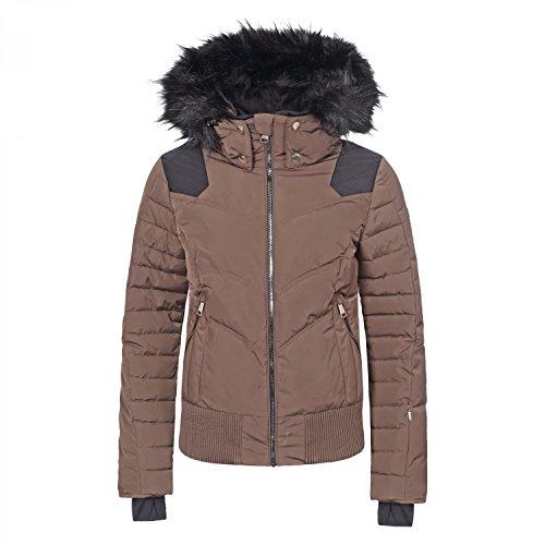 LUHTA dames ski-jack BIGGA 38435-374 mokka/modieuze winterjas