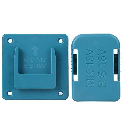 Dispositivo de fijación para herramientas eléctricas y batería de 18 V Makita/Bosch, con orificios para tornillos de cabeza avellanada, colocable boca abajo, ABS + PC(Azul)