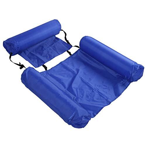 Hamaca de agua, flotador de natación fácil de transportar inflable plegable resistente al desgaste para jardín para playa para patio para piscinas