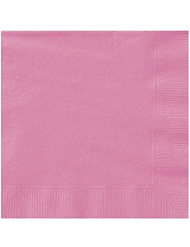 Générique 20 Serviettes en Papier Rose 33 x 33 cm