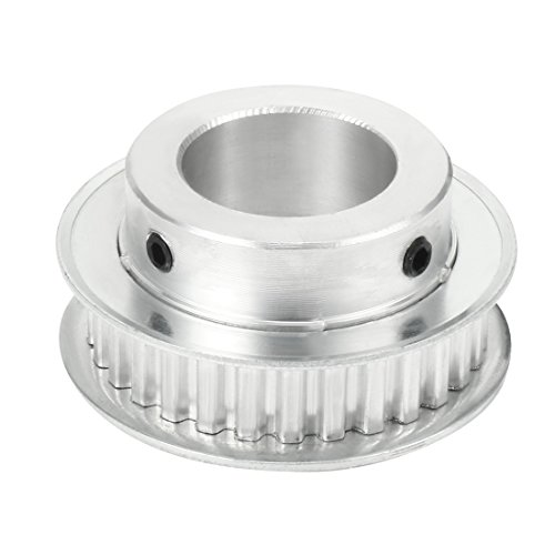 uxcell Aluminum 5M 20 Teeth 5mm Bore Timing Belt Idler Pulley Flange Synchronous Wheel for 20mm Belt 3D Printer CNC
