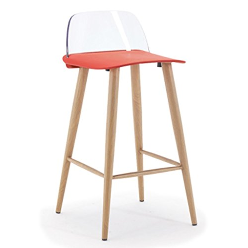 XQAQX Tabouret kruk, barkruk, stoelen, sofas, moderne barstoel, hoge rugleuning, barkruk, stoelen, stalen buis, Cafe Chair Stool