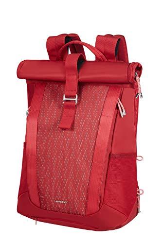 Samsonite 2WM Lady - Zaino Roll Top per Laptop, 42 cm, 16 L, Rosso (Red)