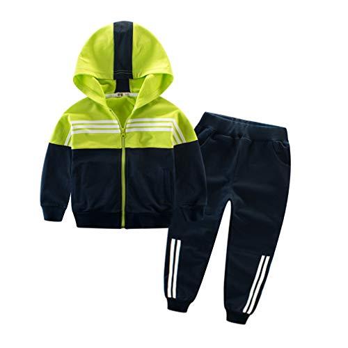 junkai Frühling Herbst Mädchen Jungen Kleidung Sets Kinder Teenager Casual Baumwolle Hoodies+Pants 2STÜCKE Sportanzug Jungen Trainingsanzug Outfits