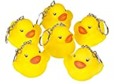 Rubber Duck Keychains Baby Party Favor Decorations