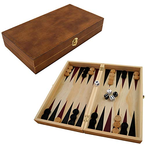 PrimoLiving P-690 Backgammon, braun