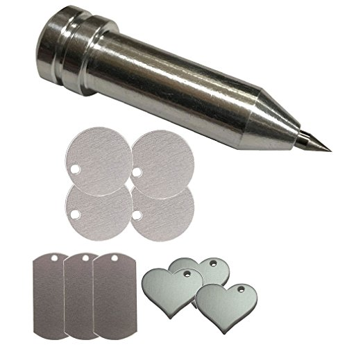 Chomas Creations Maker-Explore Precision Tip Tool and Stamping Blanks: Round, Dog Tags and Heart