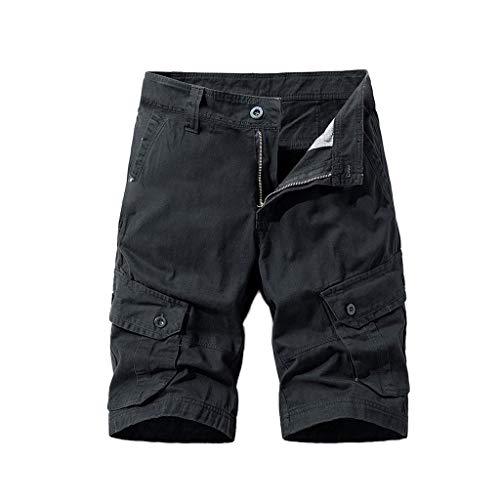 Yusealia Pantalones Hombre Verano,Pantal/ón Hombre Corto con Bolsillo,Pantal/ón Casual para Hombre Hombre Nuevo Pantalones Deportivos de Moda Transpirable Pantalones Deportivos para Correr