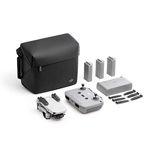 DJI Mini 2 Fly More Combo – Ultralight Foldable Drone, 3-Axis Gimbal with 4K Camera, 12MP Photos, 31 Mins Flight Time, OcuSync 2.0 10km HD Video Transmission, QuickShots, Gray (Renewed)
